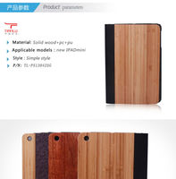 Smart Cover for Ipad Mini Wooden Case, For Ipad Mini Wood Case leather cover