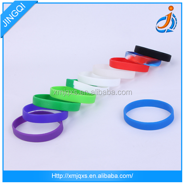 Plain customized color hand bracelet silicone rubber wristband bracelet