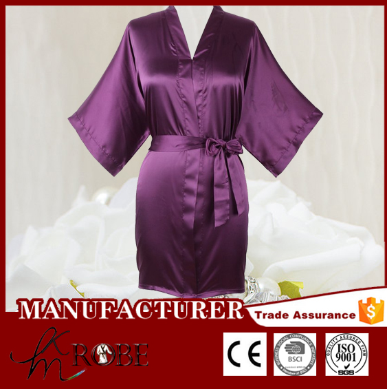 wholesale custom multi-colored silk night gown spa women robes