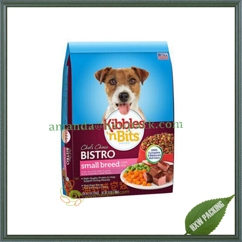 Vivid printing stand up plastic food packaging for pet food