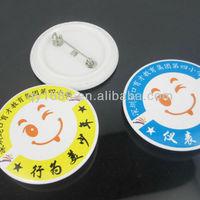 custom smiley pin badge