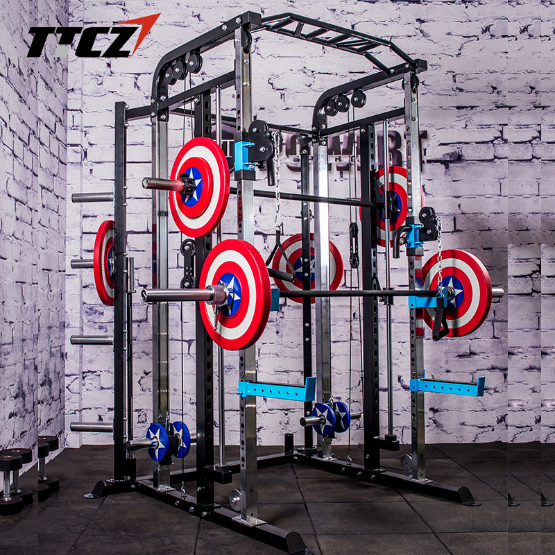 Functional Trainer Cable Crossover Station Home Gym Pulley Machine Fitness Equipment Smith Cage Multi crossfit power rock