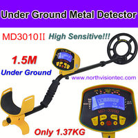 Potable gold metal detector with 1.37 kg weight and underground 1.5 meter detector