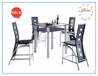 Hot-selling and tempered glass and elegant dining room sets