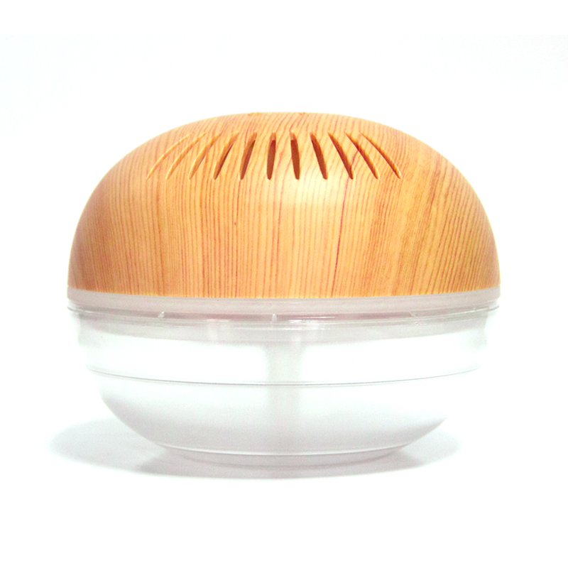 KM-02 wooden surface air freshener with LED lights
