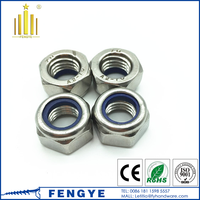 high quality factory price stainless steel hex nylock nut