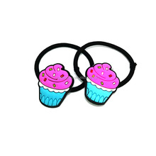 Ice cream cute custom PVC hair bands for teenagers