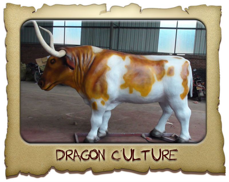 2013 Newest best quality fiberglass life size bull statues for sale