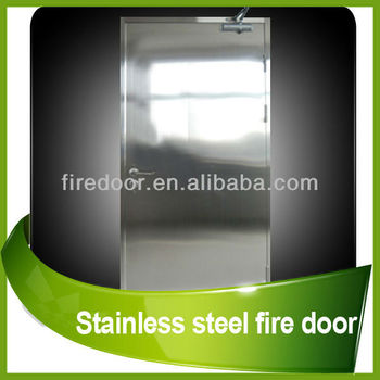 Stainless steel fire door