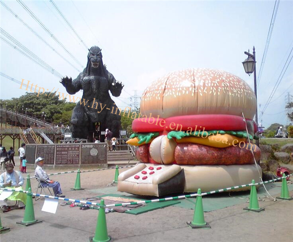 giant inflatable inflatable burger