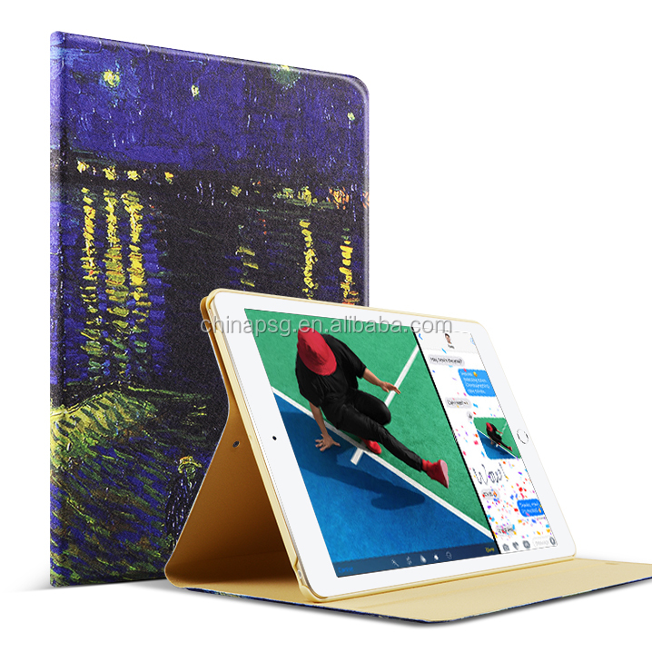 Popular Pattern PU Leather Case For Apple iPad Air 2 Case Folio Stand Protector Skin For iPad Air 2 Cover 2017