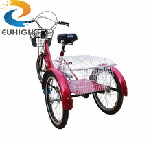 three wheel tricycle with basket side