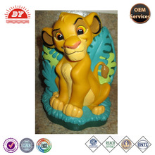 ICTI China factory 3d plastic lion animal coin bank