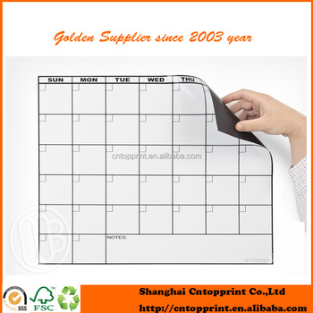 Custom Size High Quality Printing Back Side Magnetic Calendar