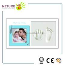 baby hand and footprint kit & Baby's First Prints Keepsake Photo Frame