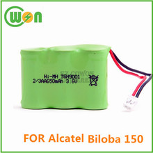 Cordless phone battery for Alcatel Biloba 150 battery nimh rechargeable 2/3aa 3.6V 650mAh battery pack for wireless phone