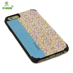 Alibaba Wholesale Colorful Retro Design PC+Wood Phone Case For Iphone 6