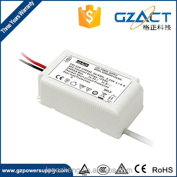 TUV CE SAA CCC 36W 1500mA CONSTANT VOLTAGE LED DRIVER for LED down light