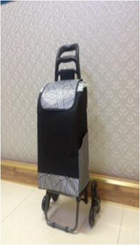 practical colorful convenient folding lightweight luggage trolley on wheels