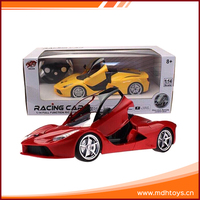 Electric remote control simulation model toys high speed racing rc car 1/14 with light