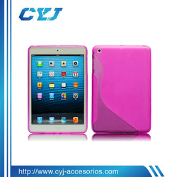 2014 China High quality cheap transparent silicone case for ipad mini