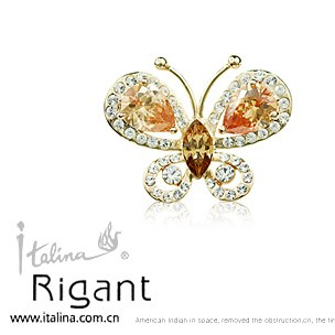 530209 top crystal jewellery rigant jewelry butterfly brooch