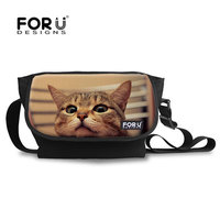 Cat pet printing Single Shoulder Cross Body Sport Travel Storage Bag For Sale