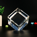 wholesale K9 clear rhombus shape crystal block cube