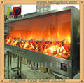 3mm 4mm 5mm Clear Ceramic Glass Crystallite Glass For Luxury Mantel Electric Fireplace Fake Electric Fireplace