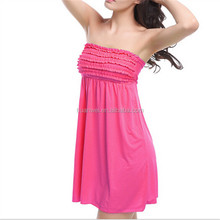 Wholesale Loose style Wrap breast beach dress swim cover up women