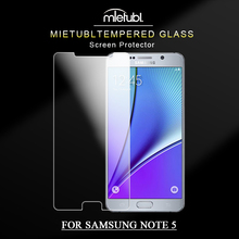 new model 2.5D 0.3mm high transparency touch tempered glass mobile phone screen protector film for sam note 5 guard film