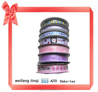 Factory stock products printed satin ribbon