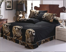 China Wholesale christmas super king size 100% cotton 3d animal reactive printed bedding comforter sets