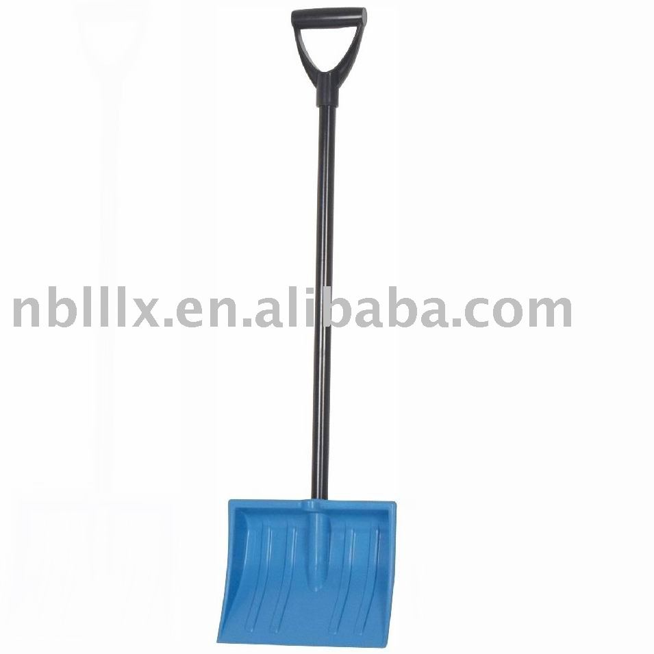 Children snow shovel with plastic blade