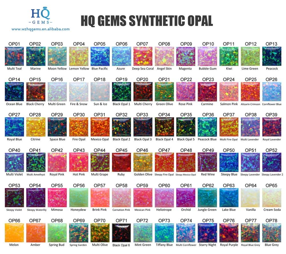 8*10mm hamsa laboratoire créé pierre d'opale synthétique prix pour collier
