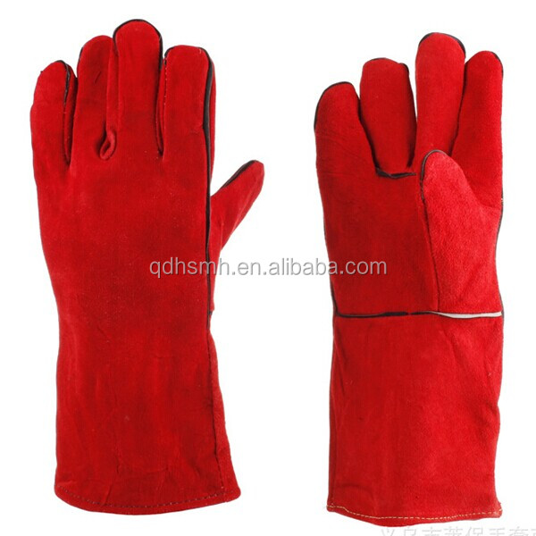 split leather welding gloves reinforced gloves 100g thinsulate working leather gloves