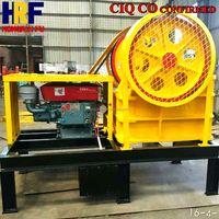 ISO Mini Diesel Engine Stone Crusher 200*300, 5-10T/H Diesel Powered With Electric Start