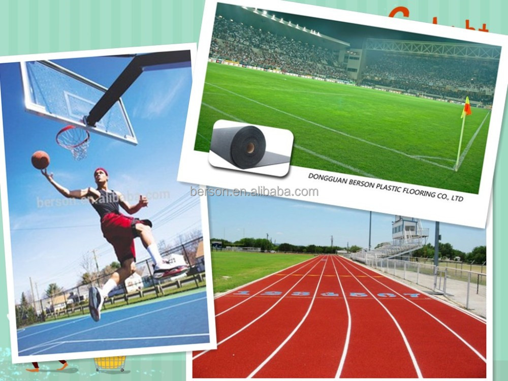recycled rubber running track materials/ colourful rubber running track surface/Sport Athletic Rubber Running Track surface