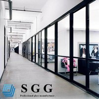 8mm 10mm 12mm toughened glass office room partition