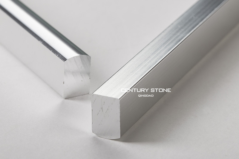 7x10x305mm Shiny Solid Aluminium Alloy Silver Metallic Pencil Trims Tile