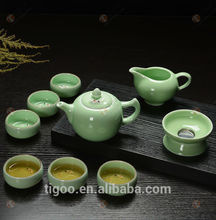 TG-401W130-G glass tea set with high quality silver plated teapot