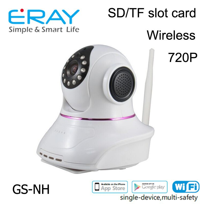 Eray New Arrival GSM Wireless Home Burglar Security Alarm System 3G GSM Video Camera With SD TF Slot GS-NH