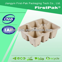2*3 square recycle paper biodegradable packaged flowers nurseries peat pots