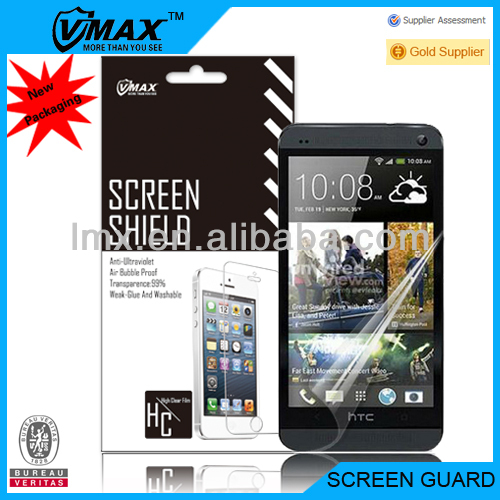 Manufacturers Free Sample!! For ultra clear screen protector HTC ONE M7 dual sim oem/odm (High Clear)