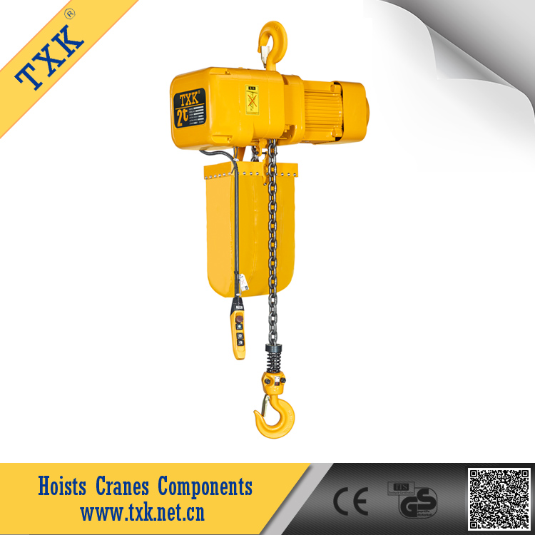 Best selling TXK SSDHL02-01M 2-Ton 3 Phase Lift Electric Hoist