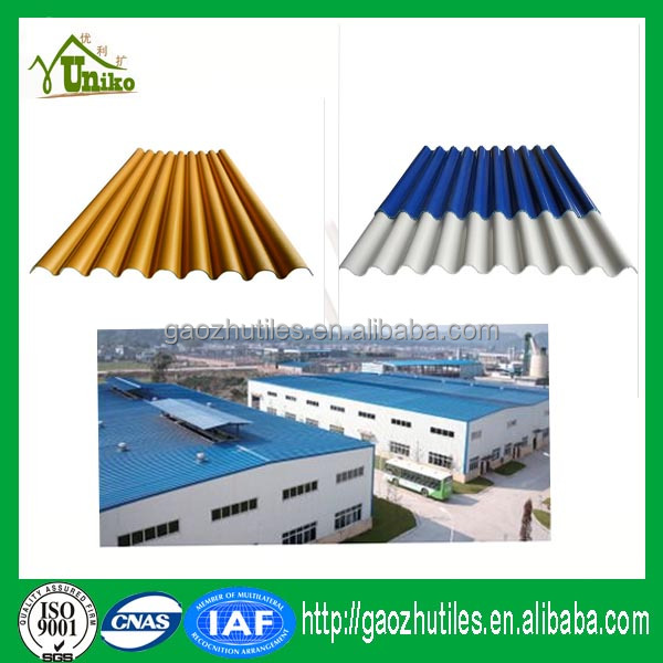 PVC roof 1130 type carbon fiber heating insulation upvc roof tiles