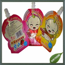 Customize aluminium foil juice drink spout pouch bag for baby snack