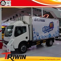 1ton 1.5ton 2ton 3ton factory direct sale 6-wheel drive 4x2 diesel engine 115hp discount price cheap mini refrigerator cargo van