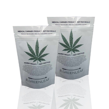 Alibaba china matt finish plastic ziplock resealable custom mylar bags for 1/2oz 1/4oz 1/8oz hemp packaging