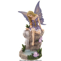 Sat by Waterfall Lisa Parker fairy/resin fairy figurines/nice fairy